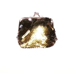 Gold and Black Shiny Coin Purse